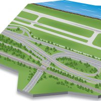Technical Vector Illustration of roadway